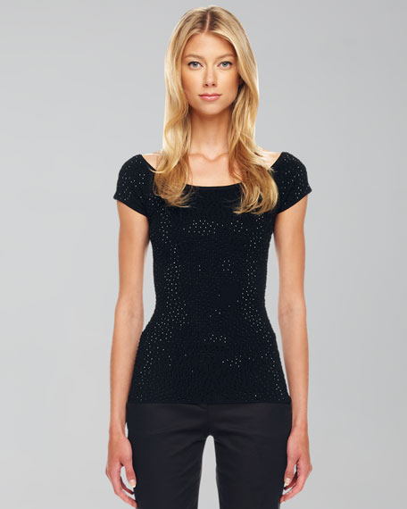 Beaded Knit Top