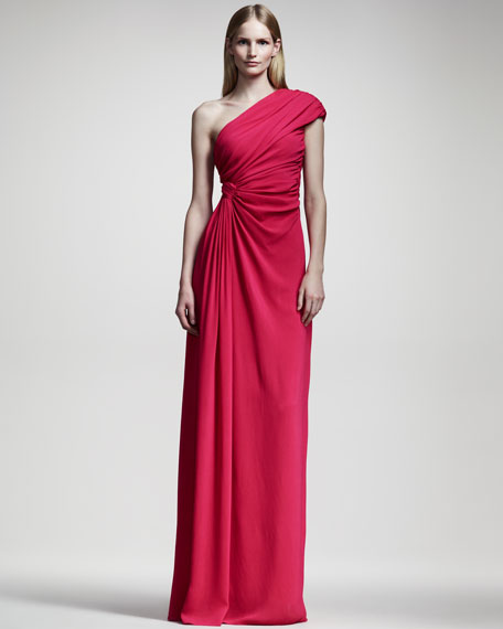 Giambattista Valli Draped One-Shoulder Gown