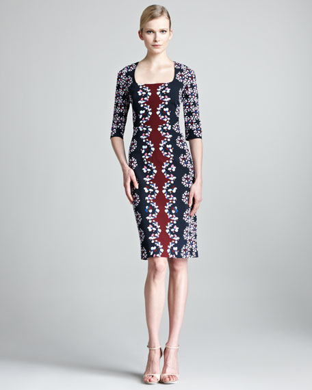 Sophia Printed Half-Sleeve Dress