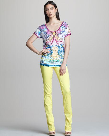 Straight-Leg Jeans, Lemon