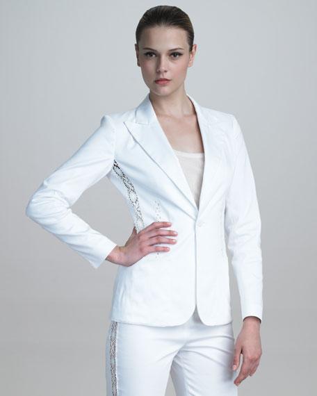 Lace-Striped Jacket
