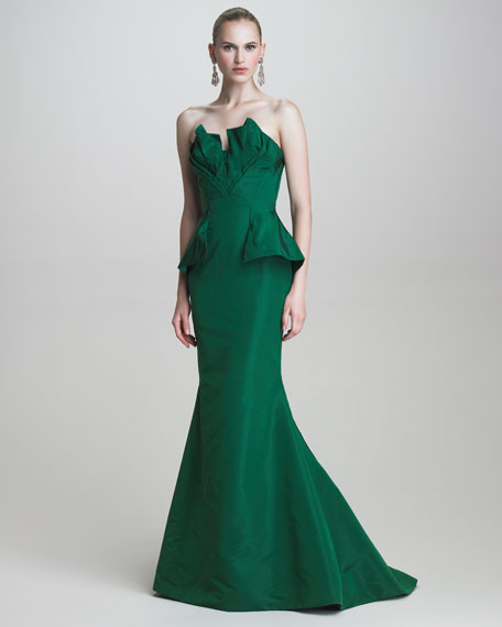 Faille Strapless Gown