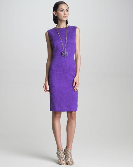 Sleeveless Crimped Fabric Dress