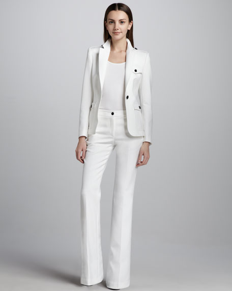 Tailored Soft Boot-Cut Pants
