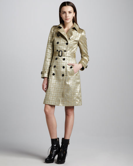 Brocade Trenchcoat