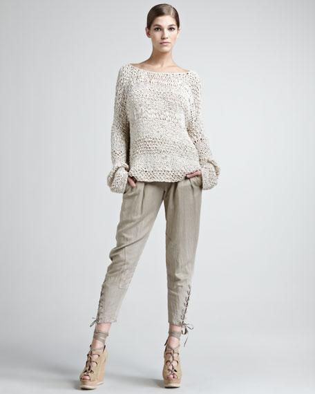 Vintage Lace-Up Pants
