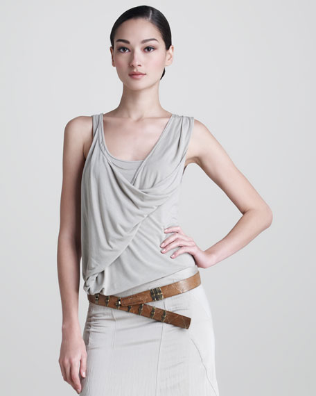 Tissue Jersey Double-Layer Tank