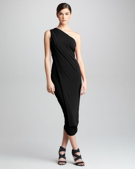 One-Shoulder Jersey Cocktail Dress