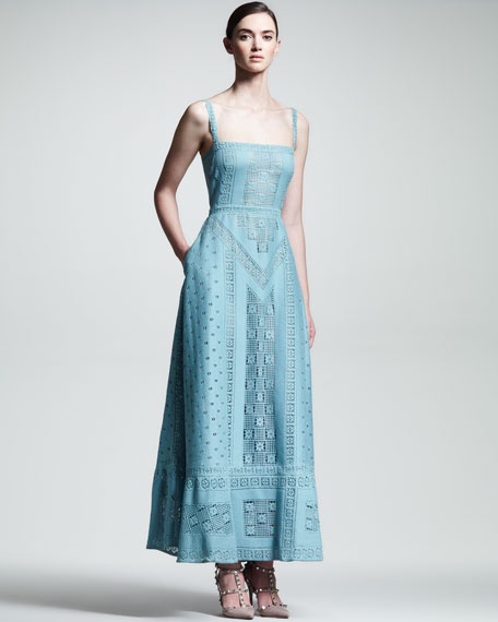 Guipure Knit Gown