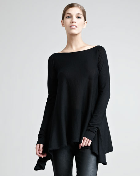 Long-Sleeve Trapeze Top