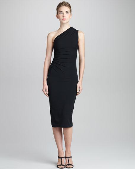 One-Shoulder Knit Dress