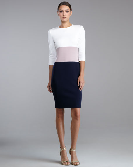 Milano Knit Colorblock Dress