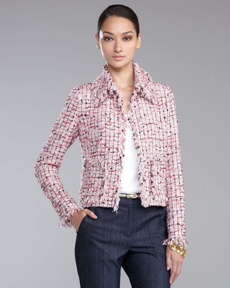 Cropped Tweed Jacket, Cosmo