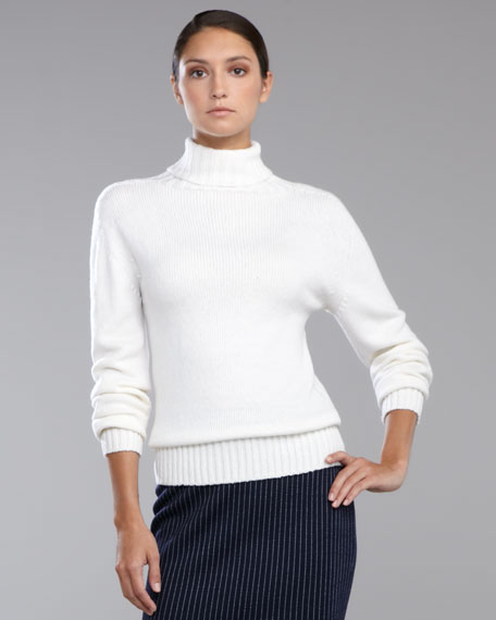 Turtleneck Sweater, Bright White