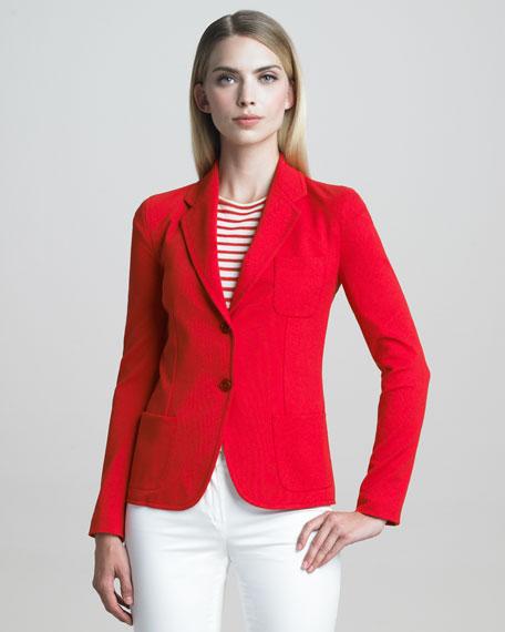 Front-Pocket Milano Jersey Jacket