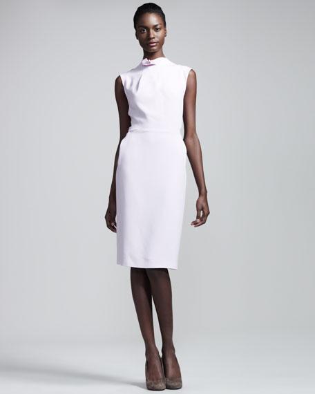 Brise Noir Stretch-Crepe Dress, Tea Rose