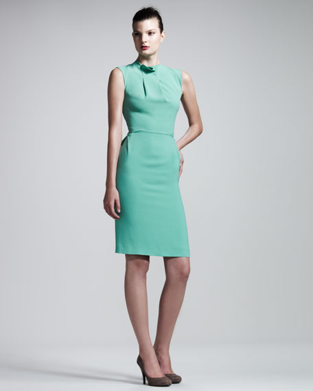 Brise Noir Stretch-Crepe Dress, Mint Green