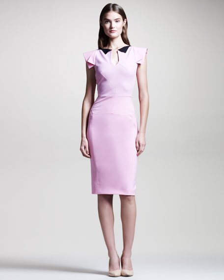 Eliza Structured Sheath Dress