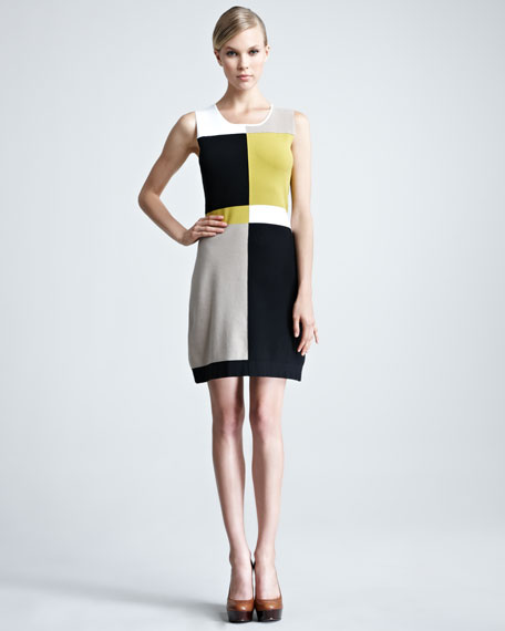 Sleeveless Colorblock Dress