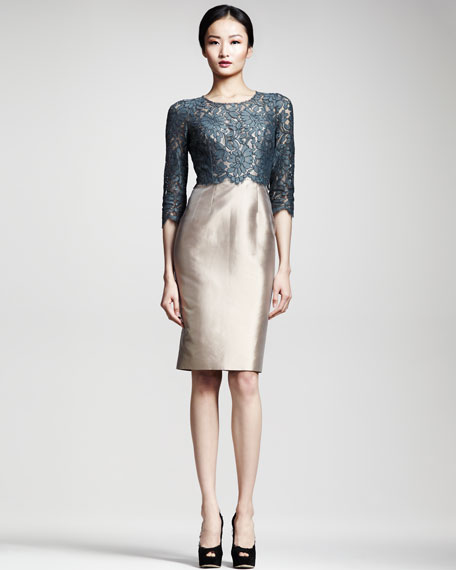 Lace/Mikado Sheath Dress