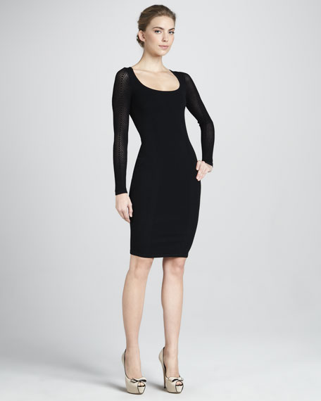 Fitted Scoop-Neck Dress