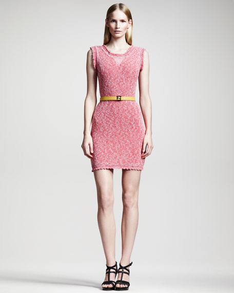 Metallic Knit Dress