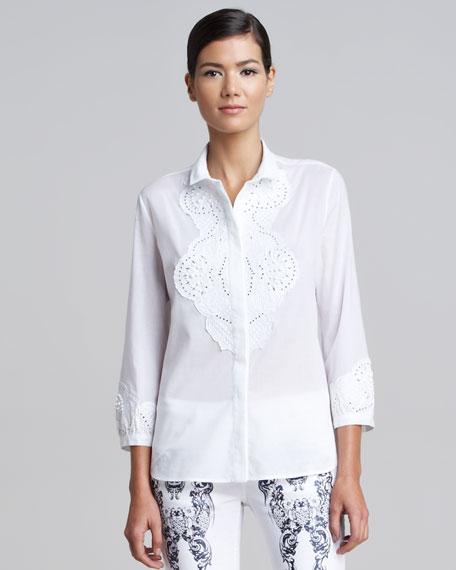Lace Applique Shirt