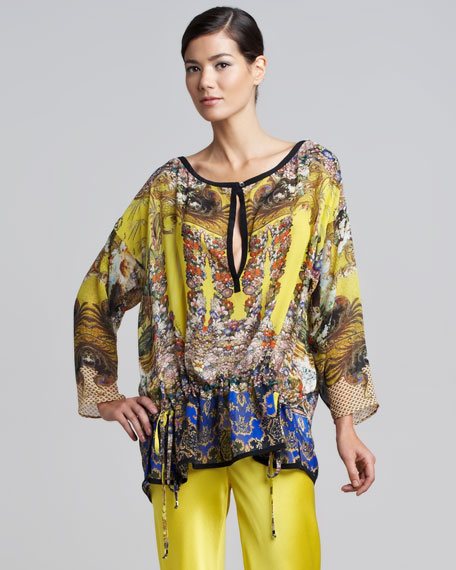 Print Keyhole-Center Caftan