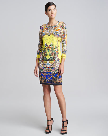 Cirronelle-Print Sheath Dress