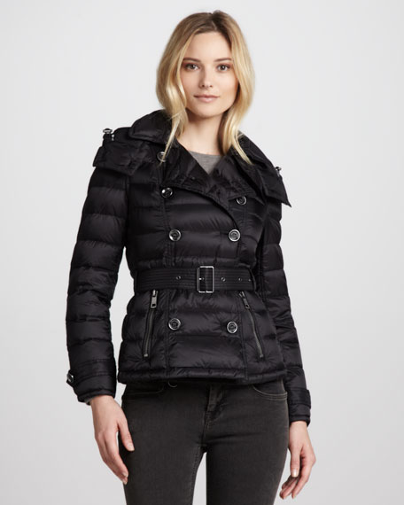 Lightweight Double-Breasted Puffer Jacket