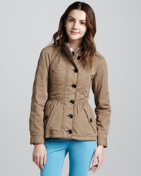 Twill Cinch-Waist Anorak