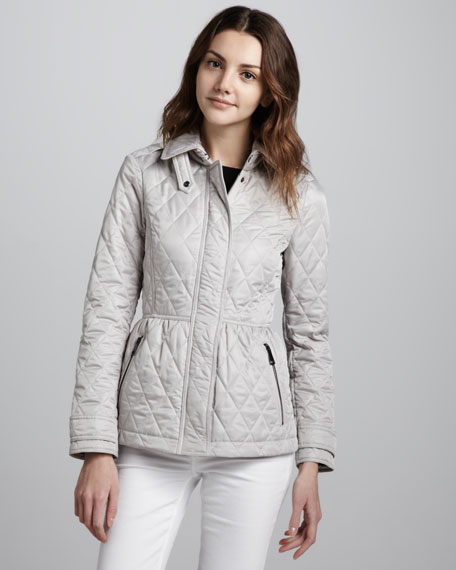 Quilted Cinch-Waist Jacket, Trench