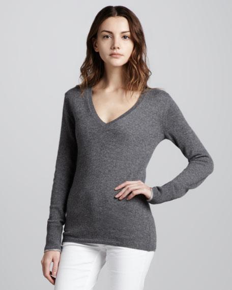Check-Cuff Cashmere Sweater