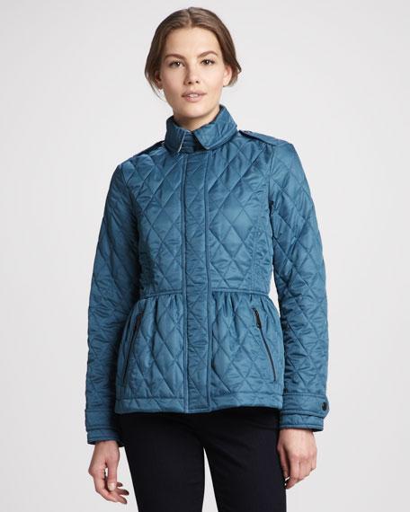 Quilted Peplum Zip Jacket