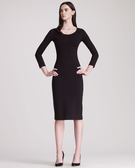 Three-Quarter-Sleeve Jersey Dress