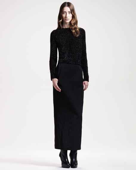Long Faille Skirt