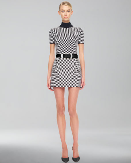 Optic Check Miniskirt
