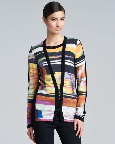 Saroja Printed Knit Cardigan