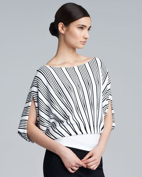 Sharon Knit Dolman-Sleeve Top