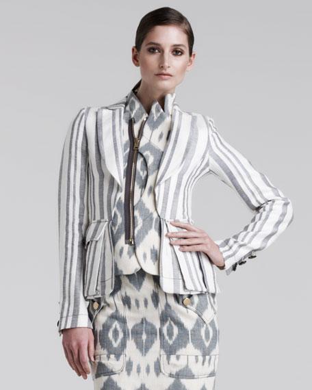 Joseph Striped Linen Blazer