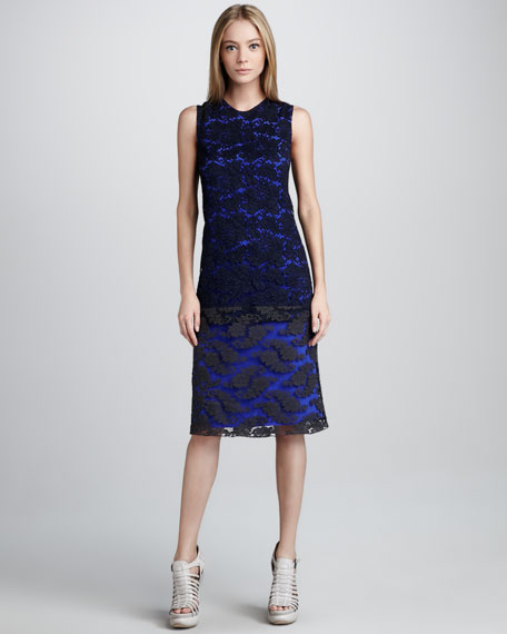 Drop-Waist Chantilly Lace Dress