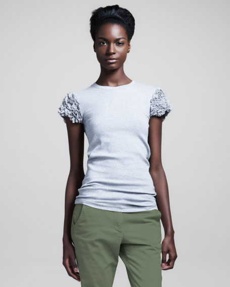 Ribbed Cotton Tee