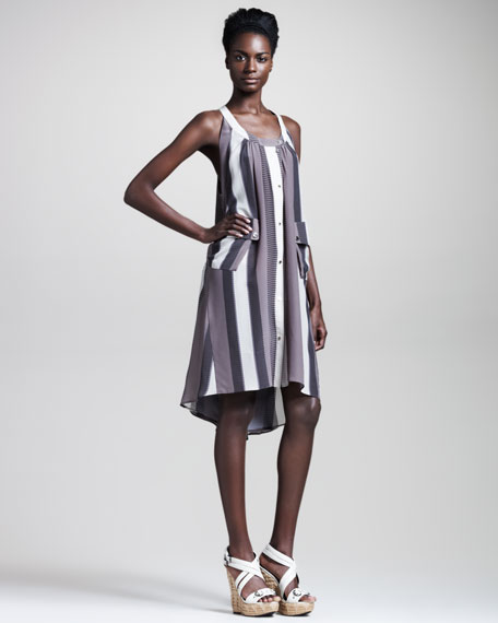 Merril Luggage-Stripe Dress
