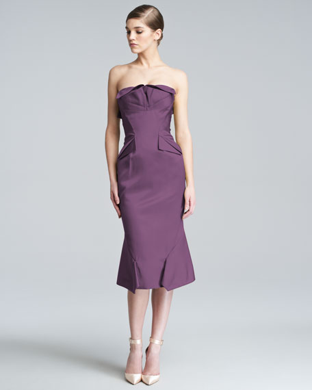 Strapless Duchess Satin Dress