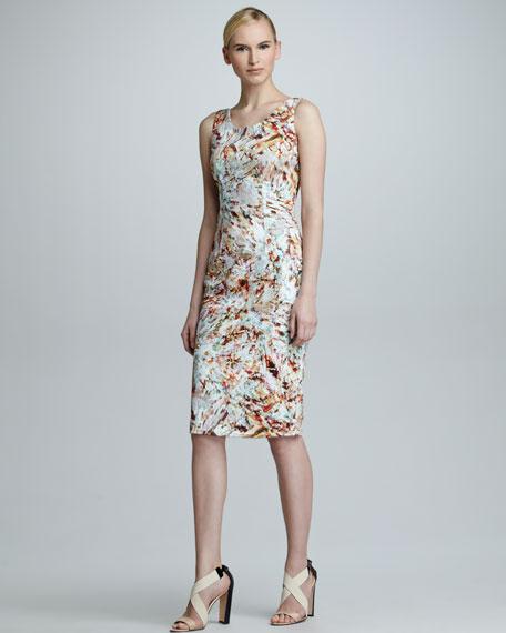 Crystal-Print Sleeveless Dress