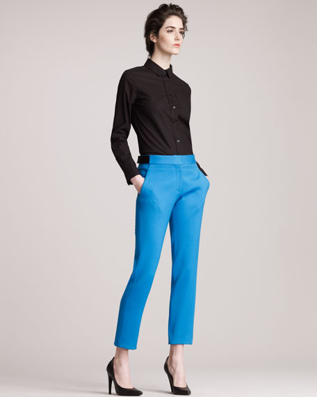 Cropped Pants, Electric Blue