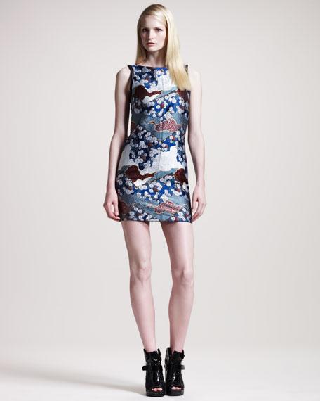 Sleeveless Brocade Dress