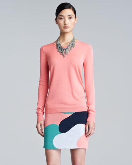 Camouflage Silk Skirt
