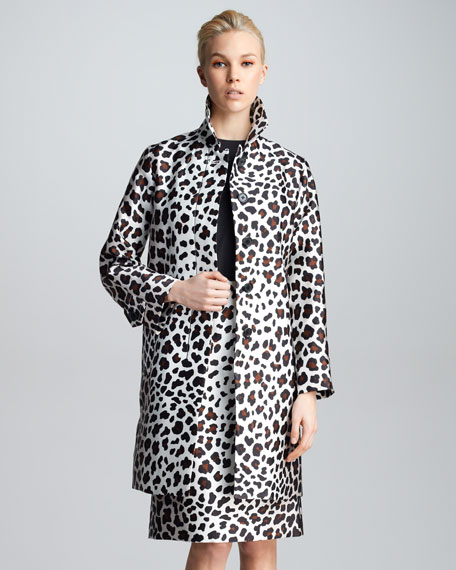 Leopard-Print Satin Jacket