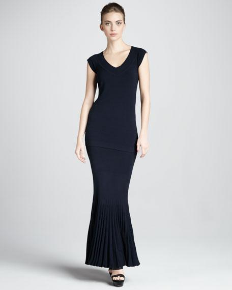 Strapless Pleated Infinity Skirt/Dress
